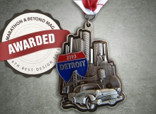 Awarded 6th best medal design-Free Press Marathon 2010