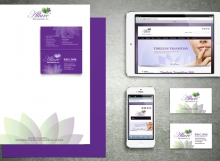 Corporate identity design. Allure