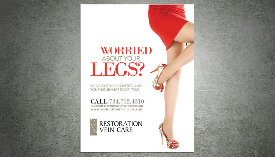 Restoration Vein magazine ad design